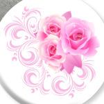 Букет роз с узорами