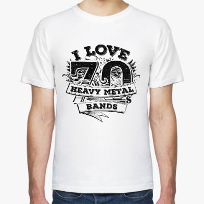 Футболка I love 70's Heavy Metal