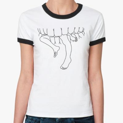 Женская футболка Ringer-T Teeth and Legs
