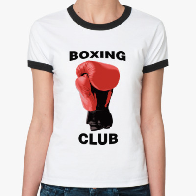 Женская футболка Ringer-T boxing