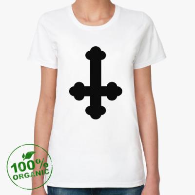 Женская футболка из органик-хлопка Перевернутый Крест / Inverted Cross