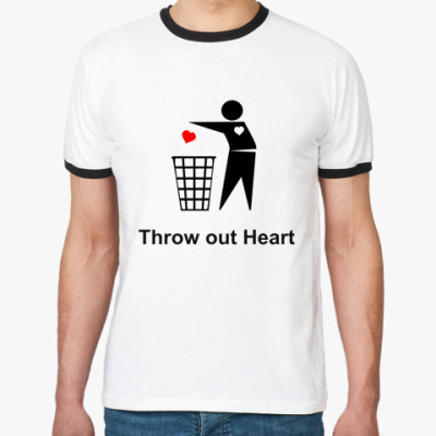 Футболка Ringer-T Throw out Heart