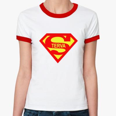 Женская футболка Ringer-T Стерва