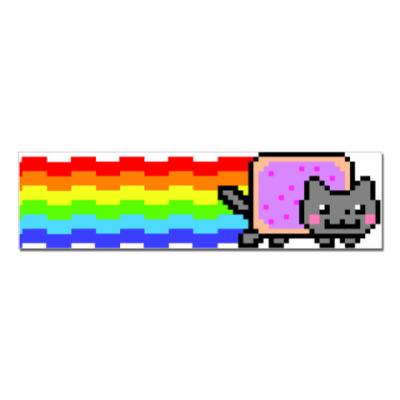 Наклейка (стикер)  NYAN cat