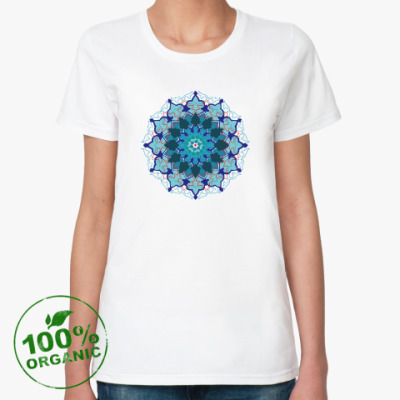 Женская футболка из органик-хлопка Мандала счастья