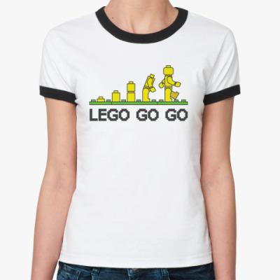 Женская футболка Ringer-T Lego go