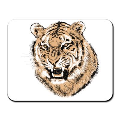 Коврик для мыши Тигр