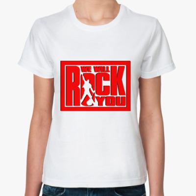 Классическая футболка We Will Rock You