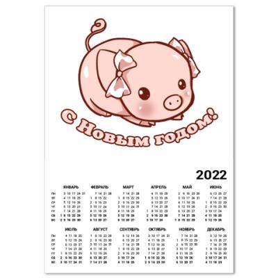 Календарь Год поросенка