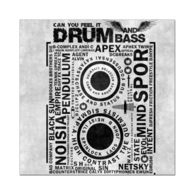 Наклейка (стикер) Drum and Bass