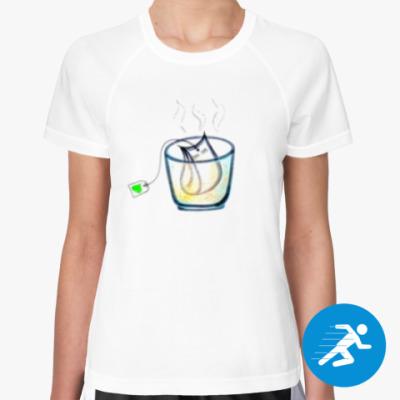 Женская спортивная футболка Время пить чай