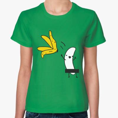 Женская футболка Банан стриптизер