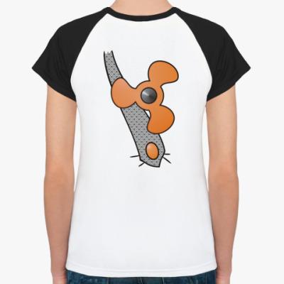 Женская футболка реглан Карлсон