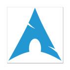 Наклейка 8 x 8 см Arch Linux