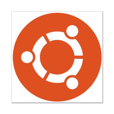Наклейка (стикер) Ubuntu