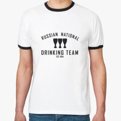 Футболка Ringer-T  Drinking Team