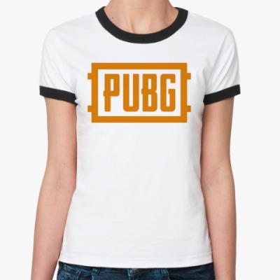 Женская футболка Ringer-T PlayerUnknown's Battlegrounds / PUBG (ПУБГ) [1]