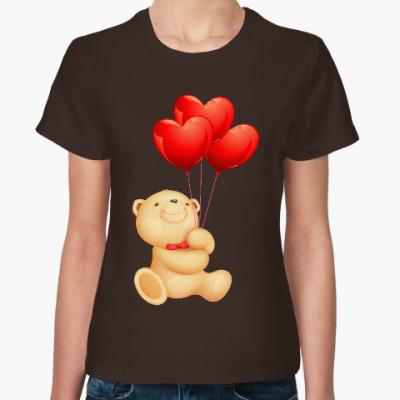 Женская футболка Мишка Тедди
