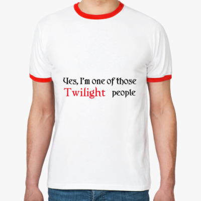 Футболка Ringer-T  Twilight people