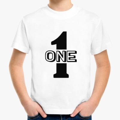 Детская футболка Один (one)