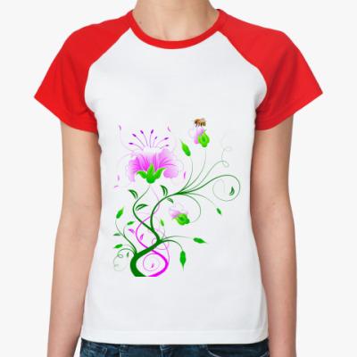 Женская футболка реглан  'Нежность'