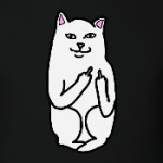 Кот показывающий фак