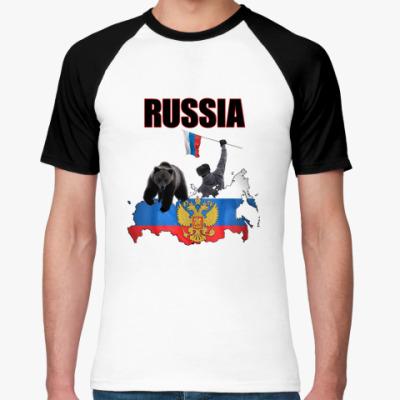 Футболка реглан Russia