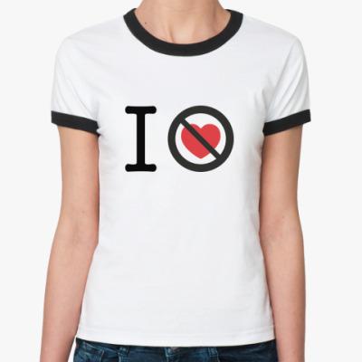 Женская футболка Ringer-T 10 лет без любви