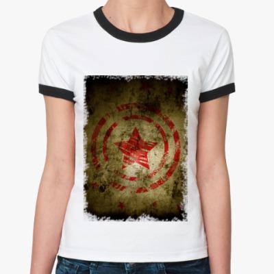 Женская футболка Ringer-T звезда