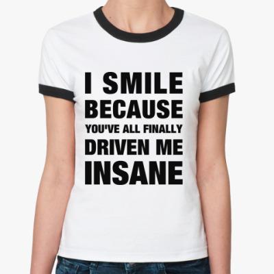 Женская футболка Ringer-T 'Insane'