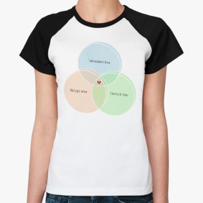 Женская футболка реглан ГЭС