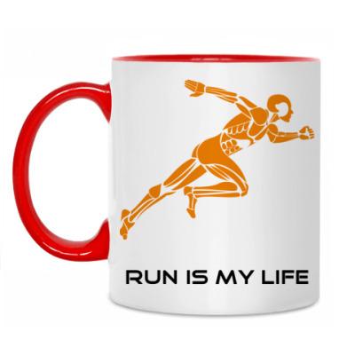 Кружка Run is my life