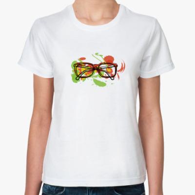 Классическая футболка Очки