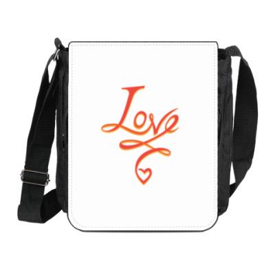 Сумка на плечо (мини-планшет) LOVE