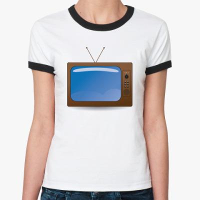 Женская футболка Ringer-T телевизор