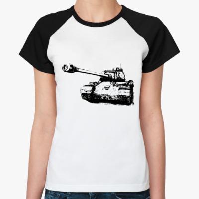 Женская футболка реглан Tank