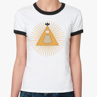 Женская футболка Ringer-T Покемон-масон Псайдак