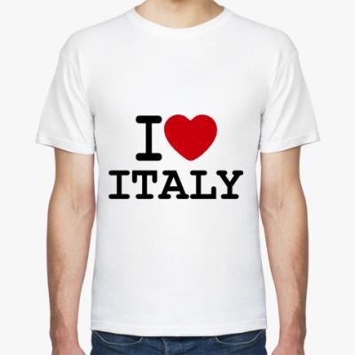 Футболка   I Love Italy