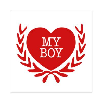 Наклейка (стикер) i love my boy