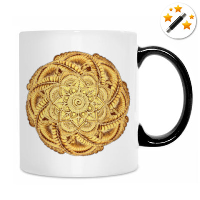 Золотой цветок - мандала