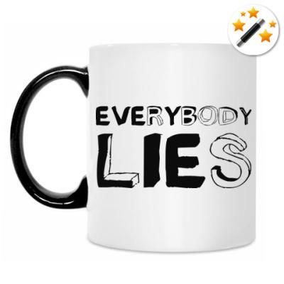 Кружка-хамелеон Everybody lies