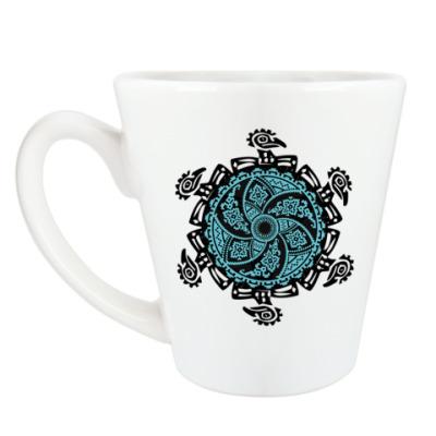 Чашка Латте Узор