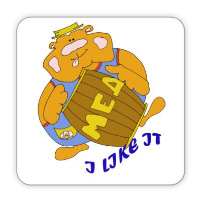 Костер (подставка под кружку) Мишка