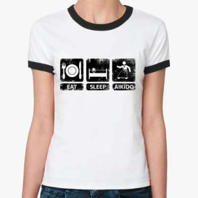 Женская футболка Ringer-T Айкидо