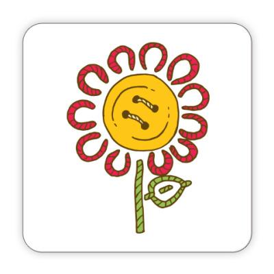 Костер (подставка под кружку) Цветок 'Пуговка'