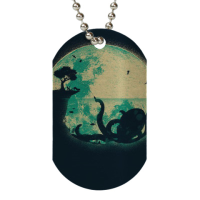 Жетон dog-tag Ночной осьминог