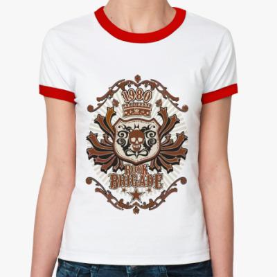 Женская футболка Ringer-T Rock Brigade