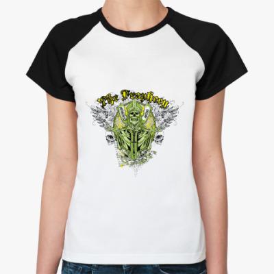 Женская футболка реглан Memento mori
