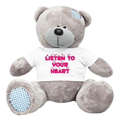 Плюшевый мишка Тедди Listen to your heart