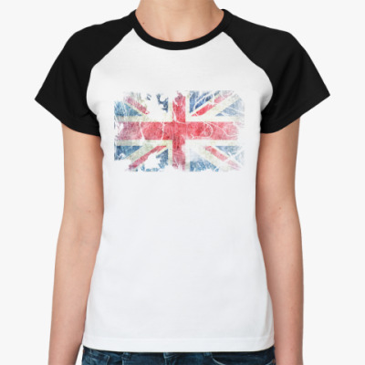 Женская футболка реглан British flag